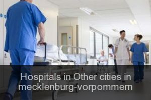 Hospitals in Other cities in mecklenburg-vorpommern