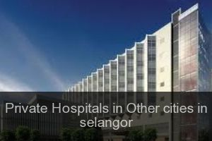 Private Hospitals in Other cities in selangor